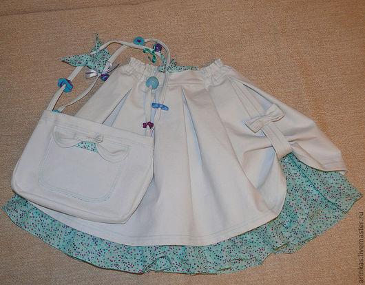 """Одежда для девочек, ручной работы. Ярмарка Мастеров - ручная работа. Купить Юбка для девочки """" Нежный василек"""". Handmade. Голубой"""