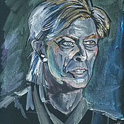 Картины и панно handmade. Livemaster - original item Pictures: David Bowie. Interferential watercolor. Handmade.