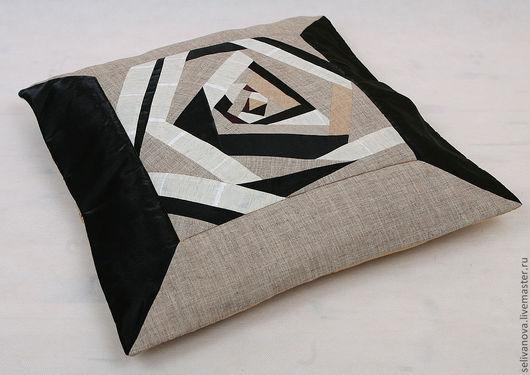 Текстиль, ковры ручной работы. Ярмарка Мастеров - ручная работа. Купить Расширяющаяся вселенная. Handmade. Чёрно-белый, лоскутное шитье