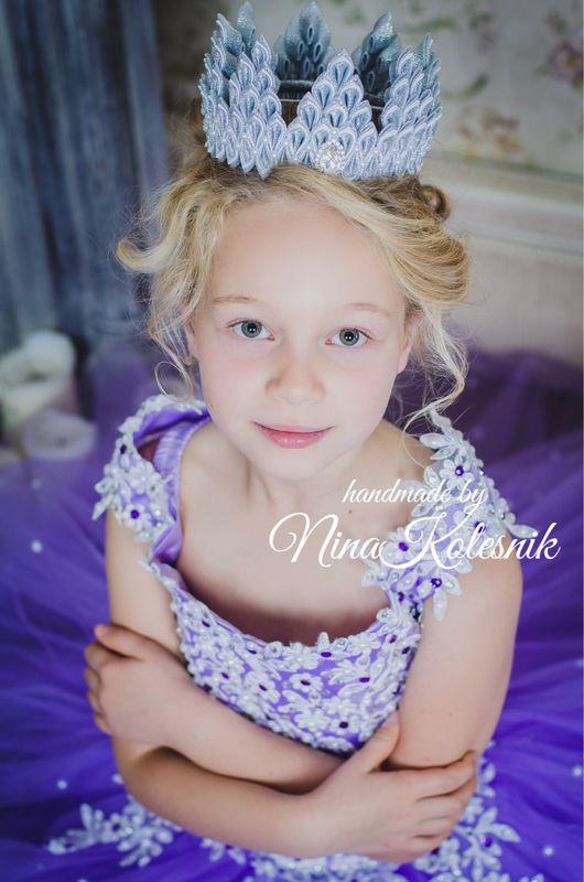 Детская бижутерия ручной работы. Ярмарка Мастеров - ручная работа. Купить Корона серебряная большая для фотосессии принцессы или принца. Handmade.