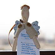 """Подарки к праздникам ручной работы. Ярмарка Мастеров - ручная работа Текстильная игрушка """"Рождественский ангел"""". Handmade."""