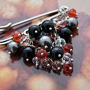 handmade. Livemaster - original item My Treasures Pin Brooch with rock crystal and Swarovski Pearls. Handmade.