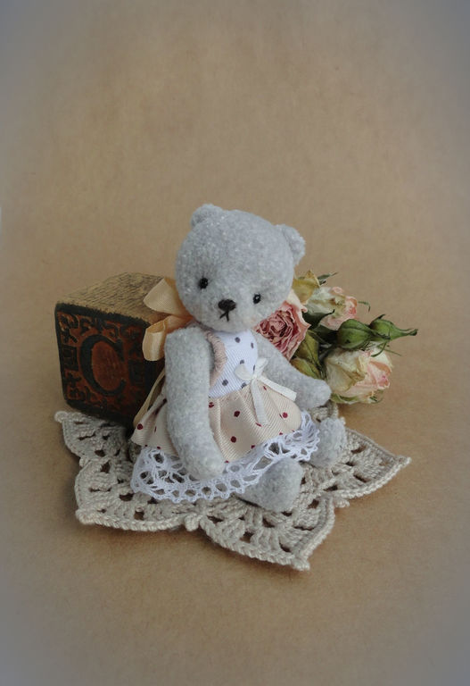 Мишки Тедди ручной работы. Ярмарка Мастеров - ручная работа. Купить Сонечка. Handmade. Серый, серый мишка, винтажный мишка