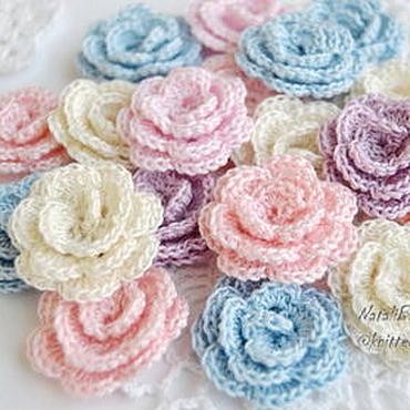 Materials for creativity handmade. Livemaster - original item Knitted dimensional roses 3D. Handmade.