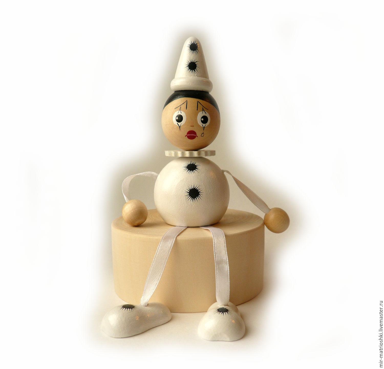 "Игрушка ""Пьеро"" на пружинке c колокольчиком, Dolls, Sarov,  Фото №1"