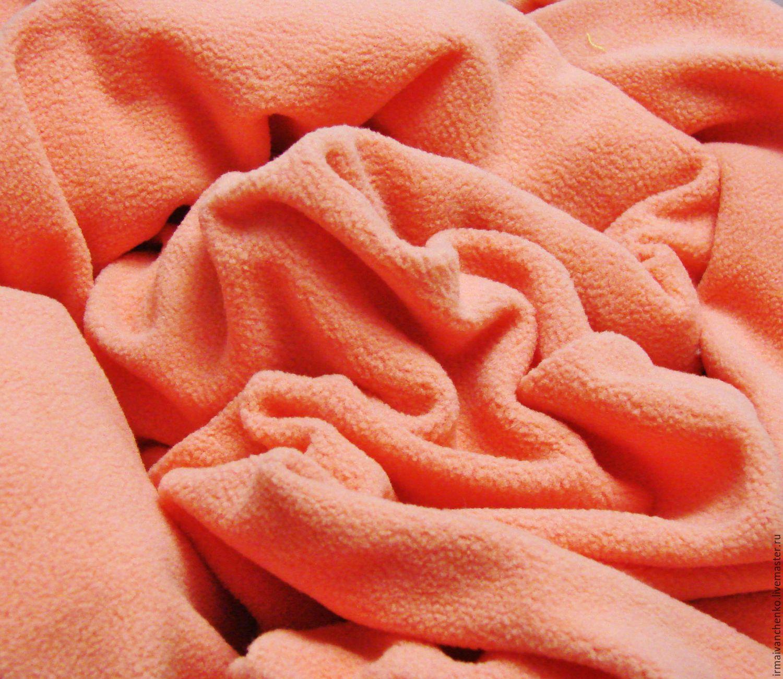 Флис персикового цвета ткань страйп сатин купить москва