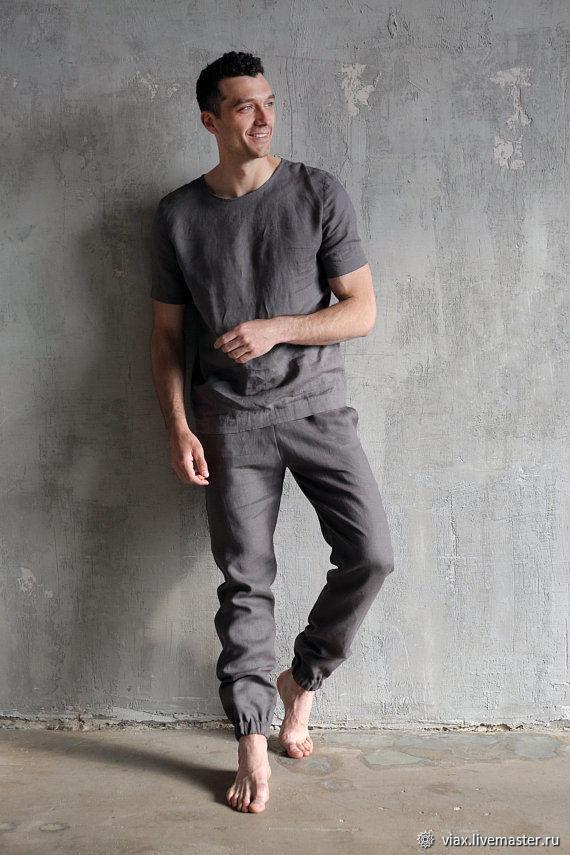 Men's pajamas: Men's pajamas 'Grey', Pajamas for men, Rostov-on-Don,  Фото №1