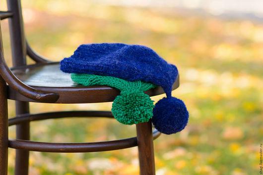 Шапки ручной работы. Ярмарка Мастеров - ручная работа. Купить Вязаные шапки из мерино любых цветов. Handmade. Разноцветный, альпака