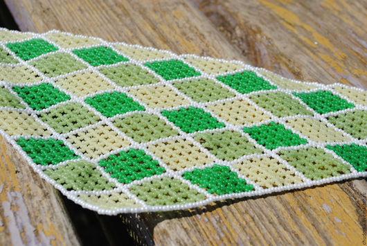 """Колье, бусы ручной работы. Ярмарка Мастеров - ручная работа. Купить Колье-косынка """"Детская"""". Handmade. Зеленый, маленькое колье"""