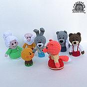 Куклы и игрушки ручной работы. Ярмарка Мастеров - ручная работа Пальчиковый театр Колобок. Handmade.