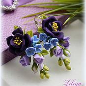 """Украшения ручной работы. Ярмарка Мастеров - ручная работа Серьги """"Lilac-purple flowers"""". Handmade."""