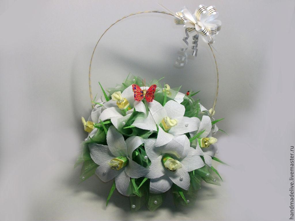 Букеты из лилий живых цветов мастер класс