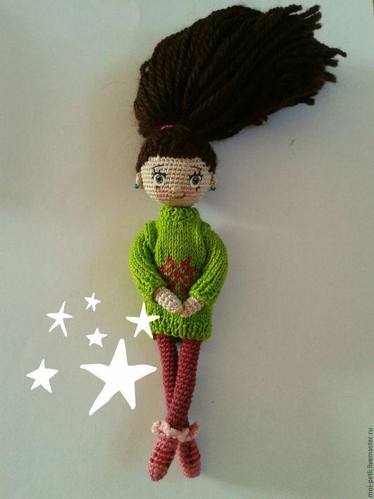 Человечки ручной работы. Ярмарка Мастеров - ручная работа. Купить Кукла вязаная 3. Handmade. Ярко-зелёный, крючок, кукла