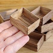 Куклы и игрушки ручной работы. Ярмарка Мастеров - ручная работа Деревянные ящики 1/12. Handmade.