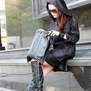Одежда ручной работы. Ярмарка Мастеров - ручная работа Платье-парка Legacy black. Handmade.