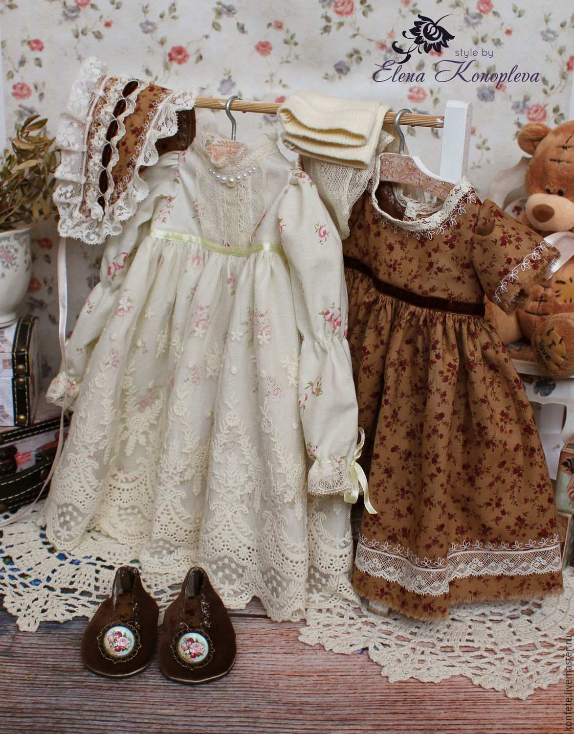 clothes for dolls outfit boho shabby chic for vasilina. Black Bedroom Furniture Sets. Home Design Ideas