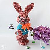 Куклы и игрушки handmade. Livemaster - original item Toy plush Bunny Caramel knitted plush toy rabbit. Handmade.
