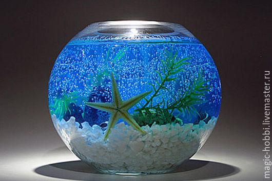 Декоративная гелевая свеча `морские мотивы`  от Мастерской Magic-hobbi