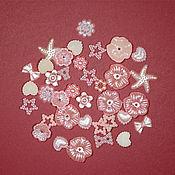 Набор розовых декоративных элементов 50шт
