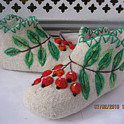 Slippers handmade. Livemaster - original item Valerie Slippers handmade felting.. Handmade.