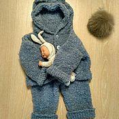 Работы для детей, ручной работы. Ярмарка Мастеров - ручная работа Вязаный комплект Плюша. Handmade.