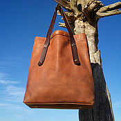Сумки и аксессуары handmade. Livemaster - original item Bag ,genuine leather, shopper