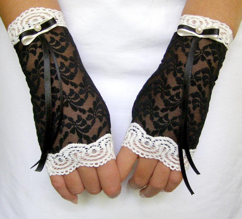 Перчатки из гипюра своими руками 62