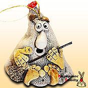 Сувениры и подарки handmade. Livemaster - original item Brownie - amulet Mitrofan, ceramic bell. Handmade.