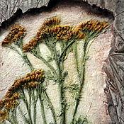 """Картины и панно ручной работы. Ярмарка Мастеров - ручная работа Панно """" Цветы в камне"""". Handmade."""