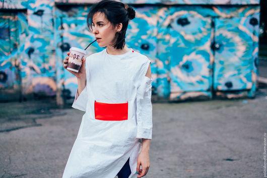 Платья ручной работы. Ярмарка Мастеров - ручная работа. Купить Платье - кимоно из инновационной ткани. Handmade. Белый, платье на заказ