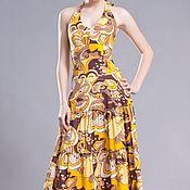 """Одежда ручной работы. Ярмарка Мастеров - ручная работа Скидка! 20 % ! Платье-сарафан """"Желто-коричневый"""" 5303. Handmade."""