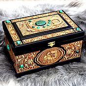 "Для дома и интерьера handmade. Livemaster - original item Malachite chest ""The Mistress of the Copper Mountain"". Handmade."