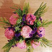 Мыло ручной работы. Ярмарка Мастеров - ручная работа Мыло: Букет розовых пионов. Handmade.