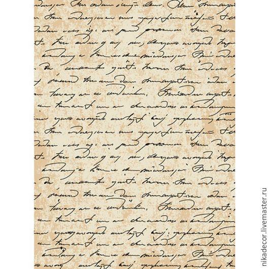 Декупаж и роспись ручной работы. Ярмарка Мастеров - ручная работа. Купить Старинная рукопись (CP00591) - рисовая бумага, А3. Handmade.