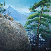 Картины и панно handmade. Livemaster - original item Pictures: Mountain landscape oil painting