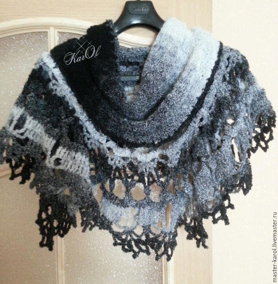Вязание шали с ажурной каймой