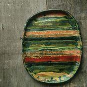 Посуда ручной работы. Ярмарка Мастеров - ручная работа Сервировочное керамическое блюдо. Handmade.