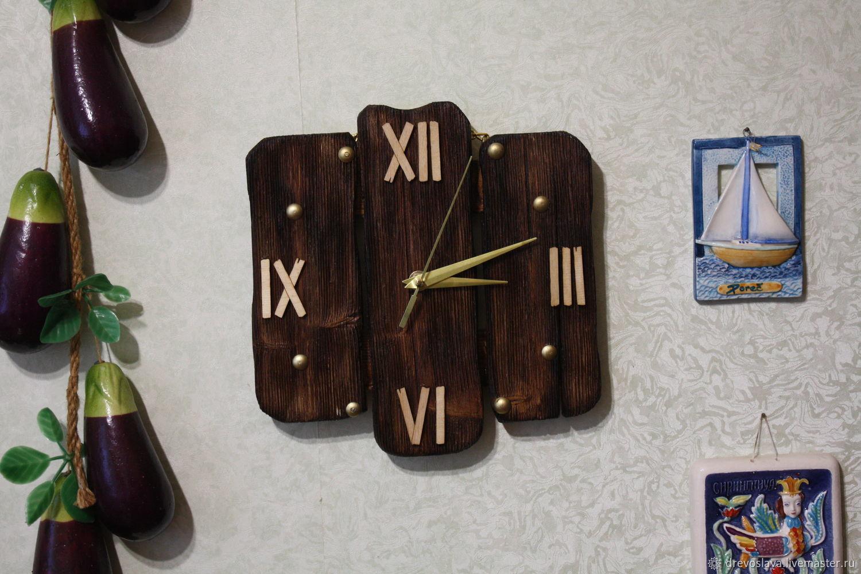 Часы настенные.Текстурированный деревянный циферблат, Часы классические, Тольятти,  Фото №1