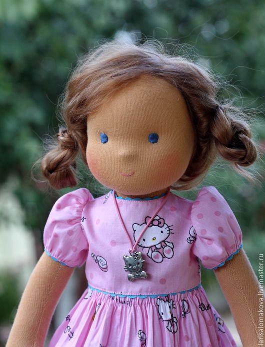 Вальдорфская игрушка ручной работы. Ярмарка Мастеров - ручная работа. Купить вальдорфская кукла  Китти-Карамелька 36см. Handmade.