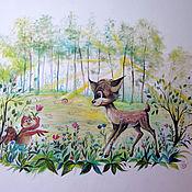 Для дома и интерьера ручной работы. Ярмарка Мастеров - ручная работа Роспись стен в детском саду (игровая и спальня). Handmade.
