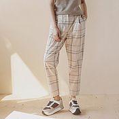 Одежда handmade. Livemaster - original item Checkered trousers with pockets.. Handmade.