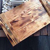 Для дома и интерьера ручной работы. Ярмарка Мастеров - ручная работа Деревянный поднос с ручками. Handmade.