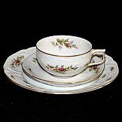 Винтаж handmade. Livemaster - original item Tea trio SANSSOUCI Rosenthal Moosrose. Handmade.