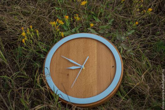Часы для дома ручной работы. Ярмарка Мастеров - ручная работа. Купить Настенные часы. Handmade. Бежевый, бук, тиковое масло