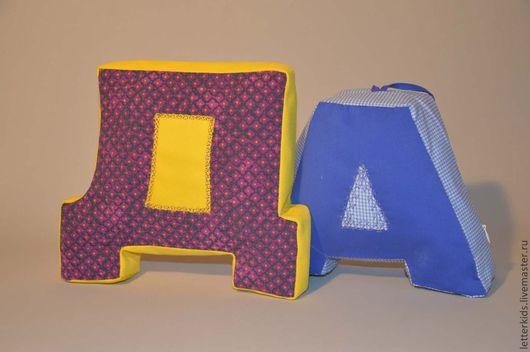 Детская ручной работы. Ярмарка Мастеров - ручная работа. Купить Буковки-подушечки. Handmade. Буквы, интерьер, мягкая игрушка