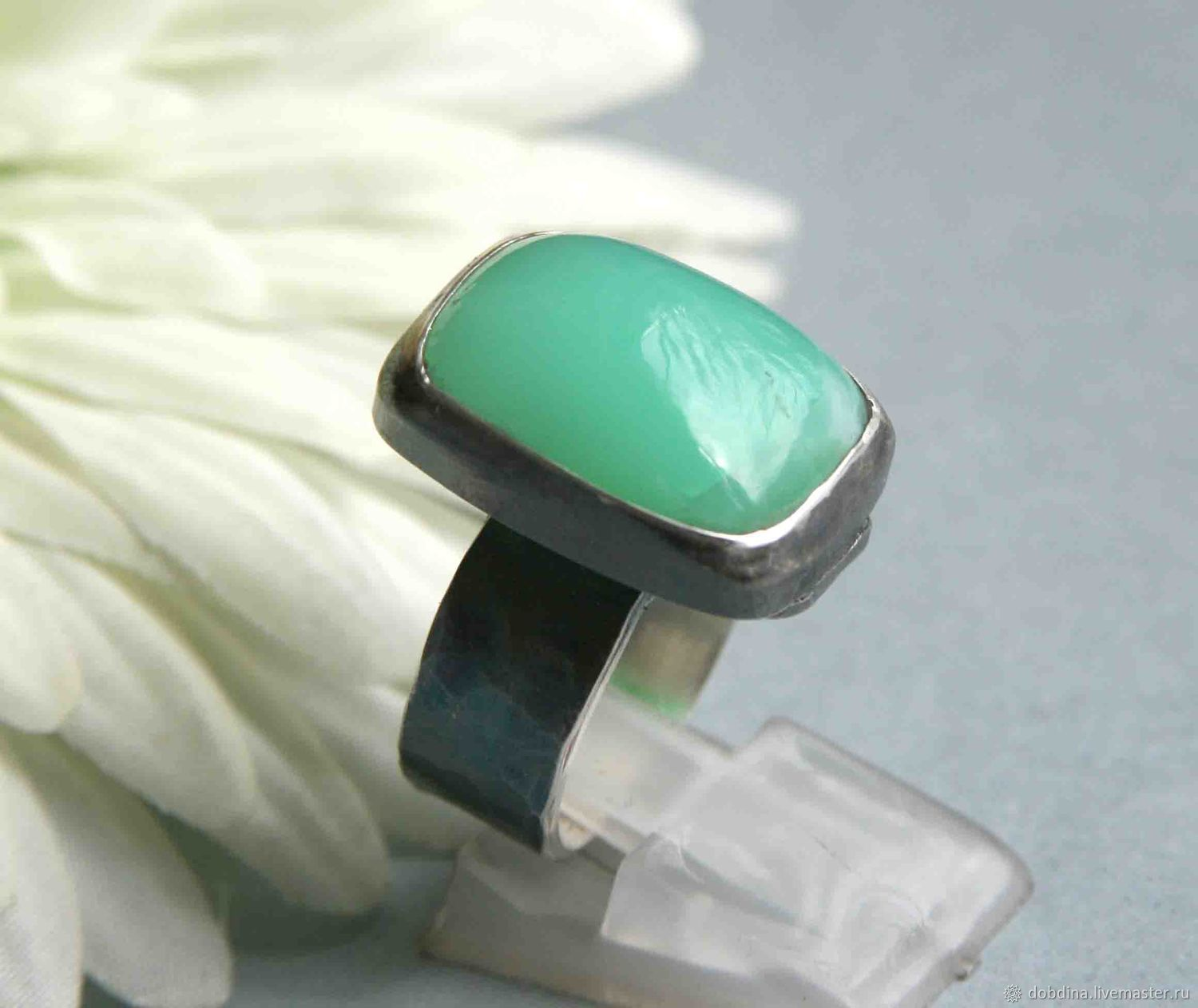 Ring with chrysoprase. Silver, Rings, Moscow,  Фото №1