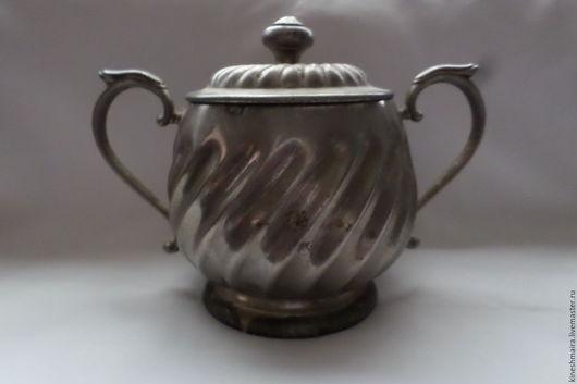 Винтажная посуда. Ярмарка Мастеров - ручная работа. Купить Красивая сахарница с клеймом. Handmade. Черный, подарок, мельхиор с серебрением, серебро