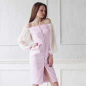 Одежда handmade. Livemaster - original item 50% discount ! Dress Nicole off the shoulder. Handmade.
