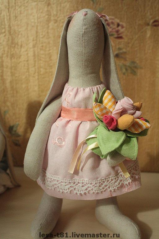 Куклы Тильды ручной работы. Ярмарка Мастеров - ручная работа. Купить Зайчиха. Handmade. Хлопок