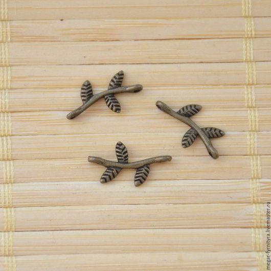 Для украшений ручной работы. Ярмарка Мастеров - ручная работа. Купить Коннектор веточкая малая 17 х 8 мм. Handmade.
